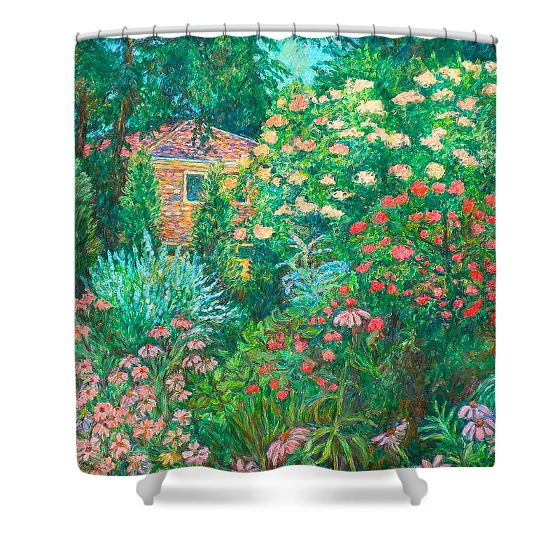 Garden Shower Curtain featuring the painting North Albemarle In Mclean Va by Kendall Kessler