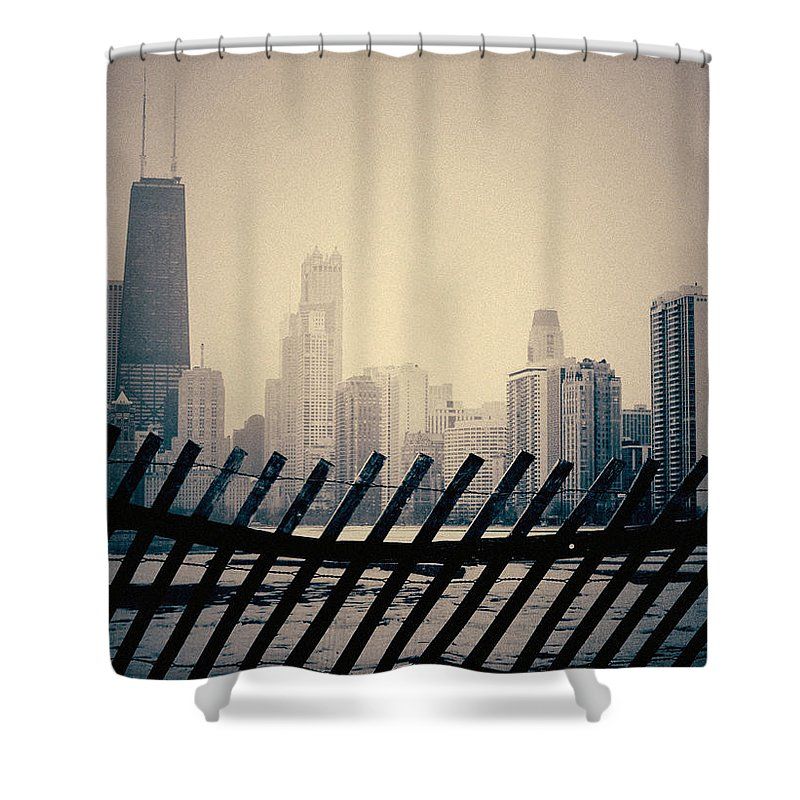 Chicago Shower Curtain featuring the photograph North Avenue Beach Chicago Skyline by Kyle Hanson