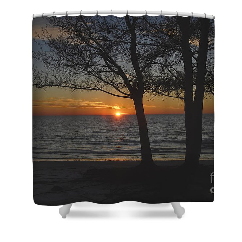 Beach Shower Curtain featuring the photograph North Beach Sunset by David Lee Thompson