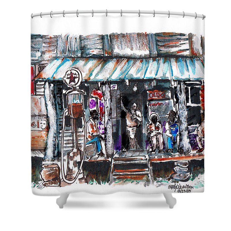 Depression Shower Curtain featuring the digital art North Carolina 1939 The Depression by Seth Weaver