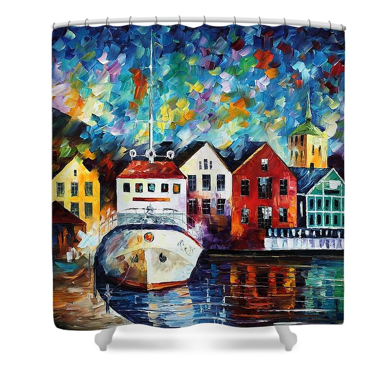 Afremov Shower Curtain featuring the painting North Mood by Leonid Afremov
