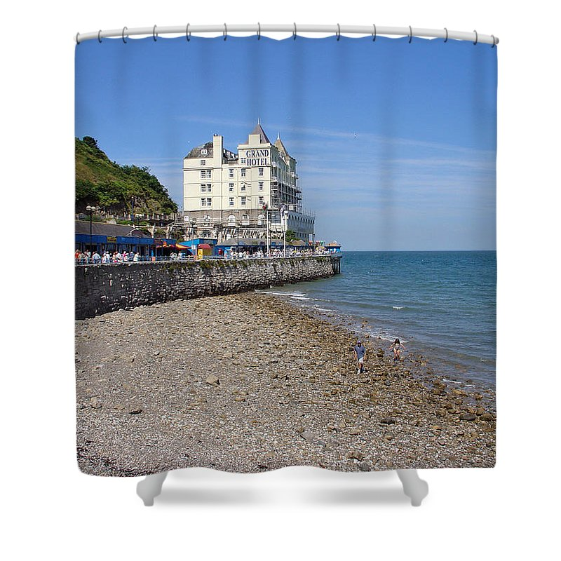 Europe Shower Curtain featuring the photograph North Parade - Llandudno by Rod Johnson