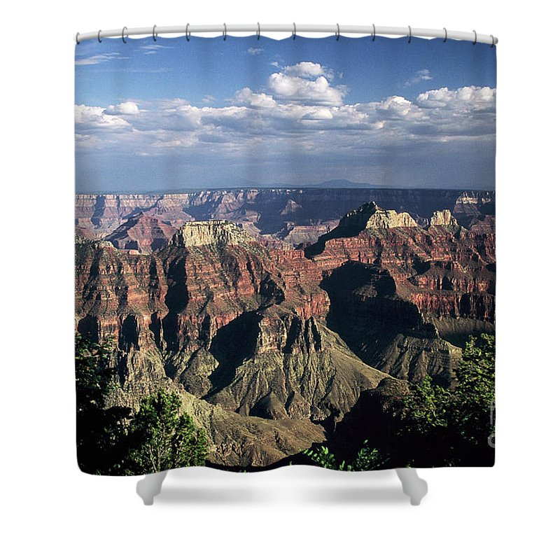 Grand Canyon; National Parks Shower Curtain featuring the photograph North Rim by Kathy McClure