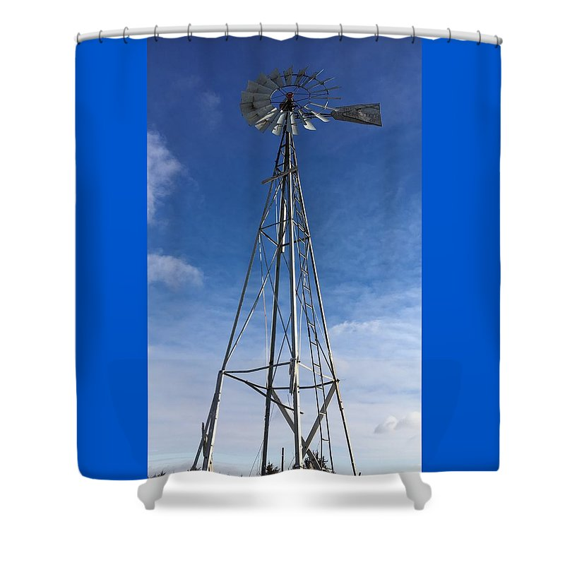 Shower Curtain featuring the photograph North Windmill by Kyle Mock