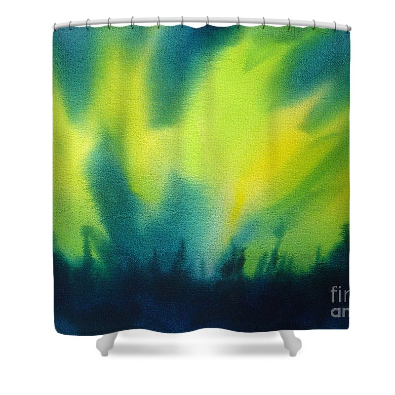 Paintings Shower Curtain featuring the painting Northern Lights I by Kathy Braud