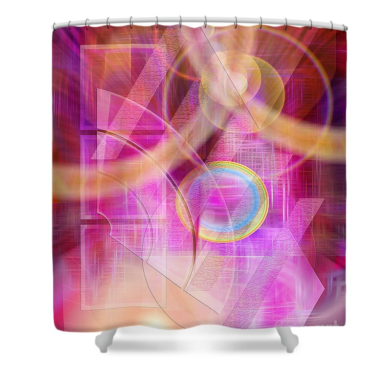 Northern Lights Shower Curtain featuring the digital art Northern Lights by John Beck