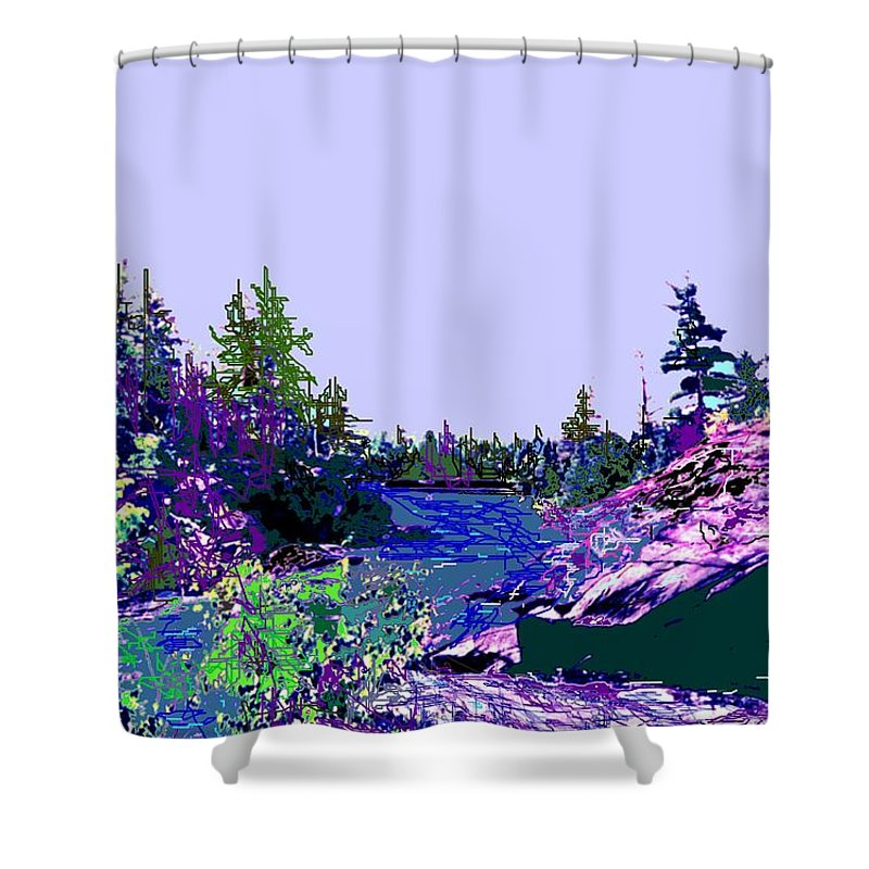 Norlthern Shower Curtain featuring the photograph Northern Ontario River by Ian MacDonald