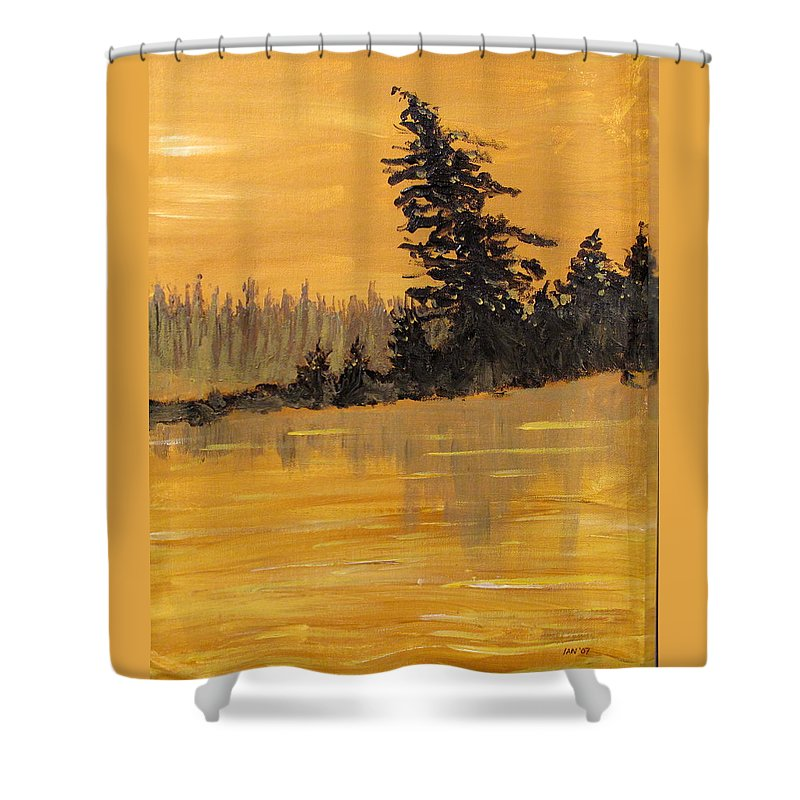 Northern Ontario Shower Curtain featuring the painting Northern Ontario Three by Ian MacDonald