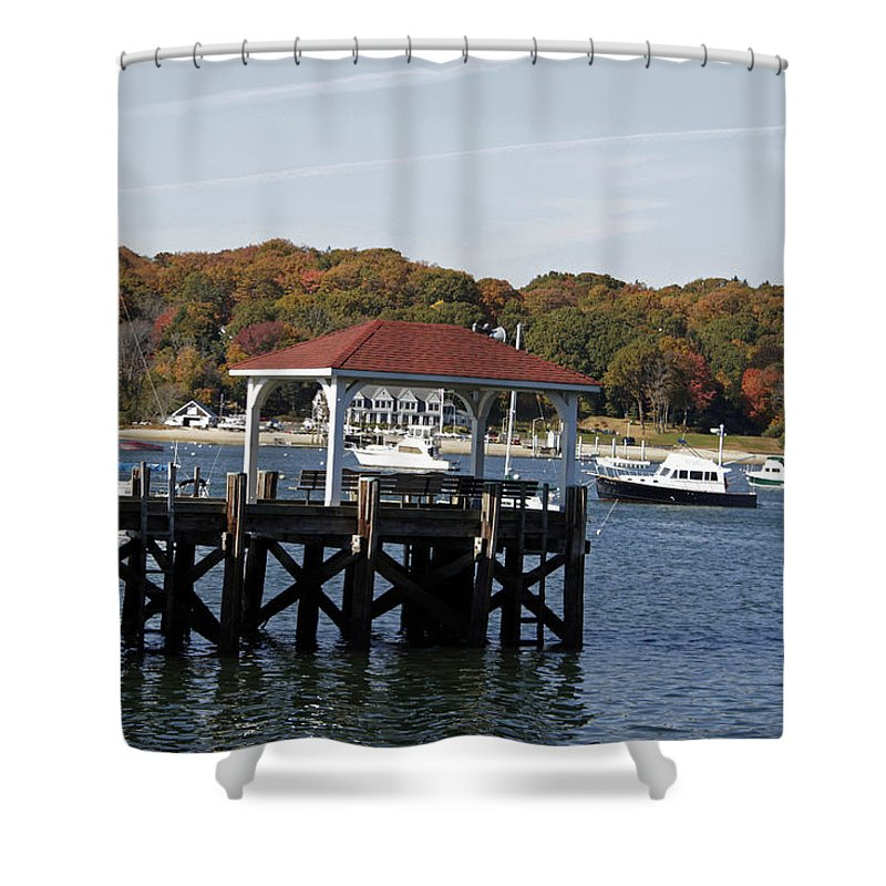 Northport Harbor Shower Curtain featuring the photograph Northport Harbor by Kristian Jensen