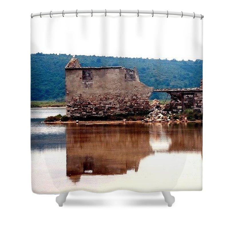 Saltpan Shower Curtain featuring the photograph Nostalgia by Dragica Micki Fortuna