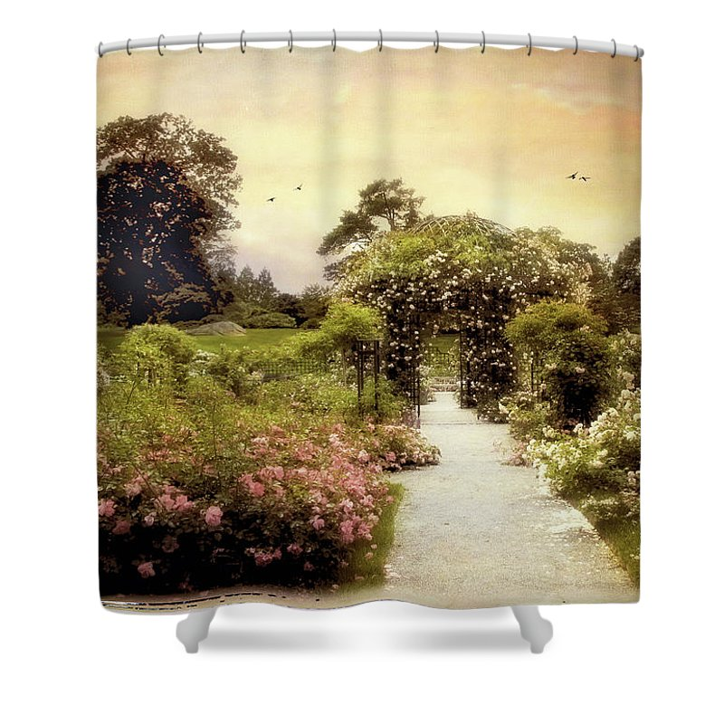 Garden Shower Curtain featuring the photograph Nostalgia Of Roses by Jessica Jenney