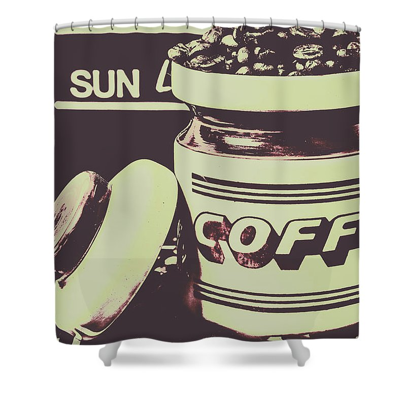 Drink Shower Curtain featuring the photograph Nostalgic Cafe Art by Jorgo Photography - Wall Art Gallery