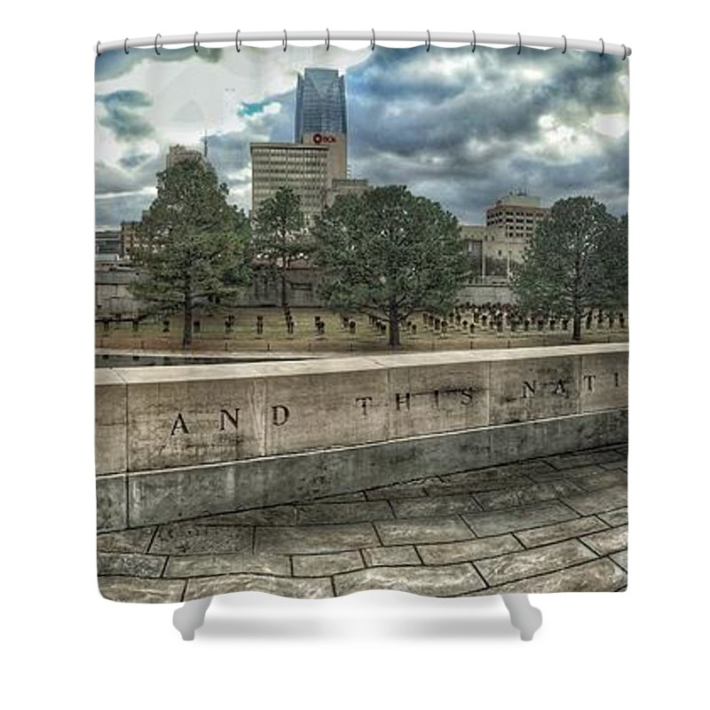 Okc Shower Curtain featuring the photograph Not Defeated by Buck Buchanan
