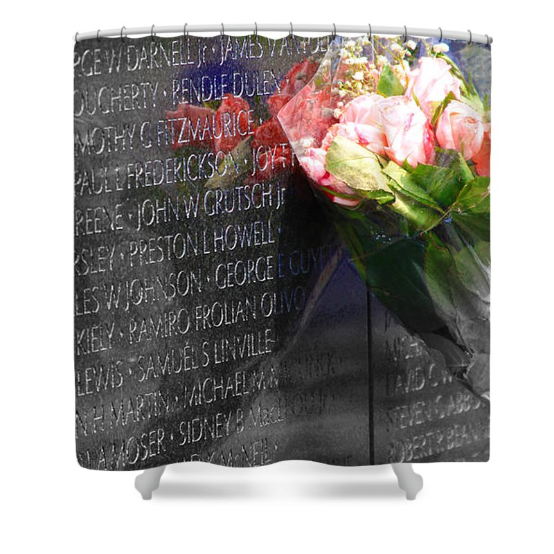 Shower Curtain featuring the photograph Not Forgotten by Tina Meador