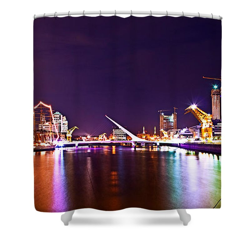 Buenos Shower Curtain featuring the photograph Nothing But Lights by Francisco Colon