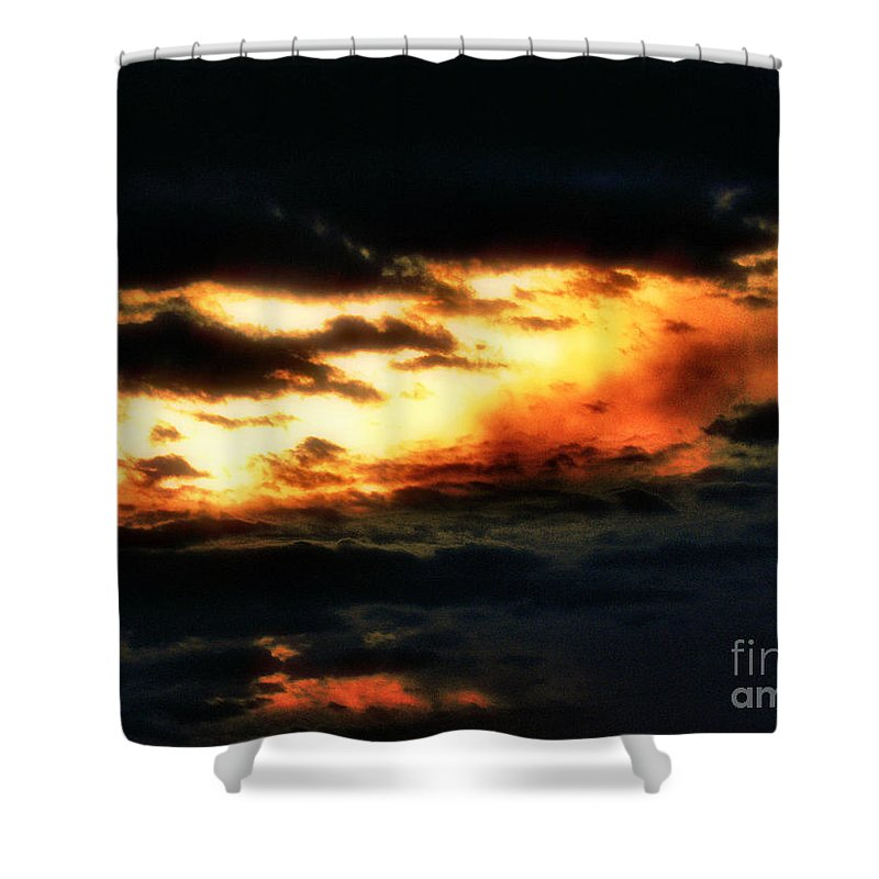 Sunset Shower Curtain featuring the photograph Nothing Gold Can Stay by September Stone