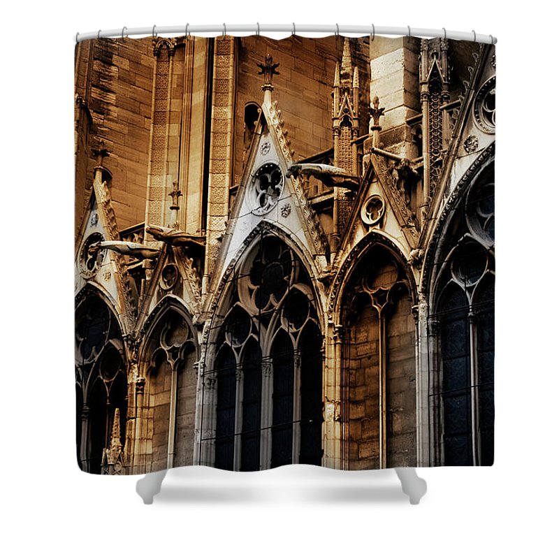 Notre Dame Church Shower Curtain featuring the photograph Notre Dame by David Chasey