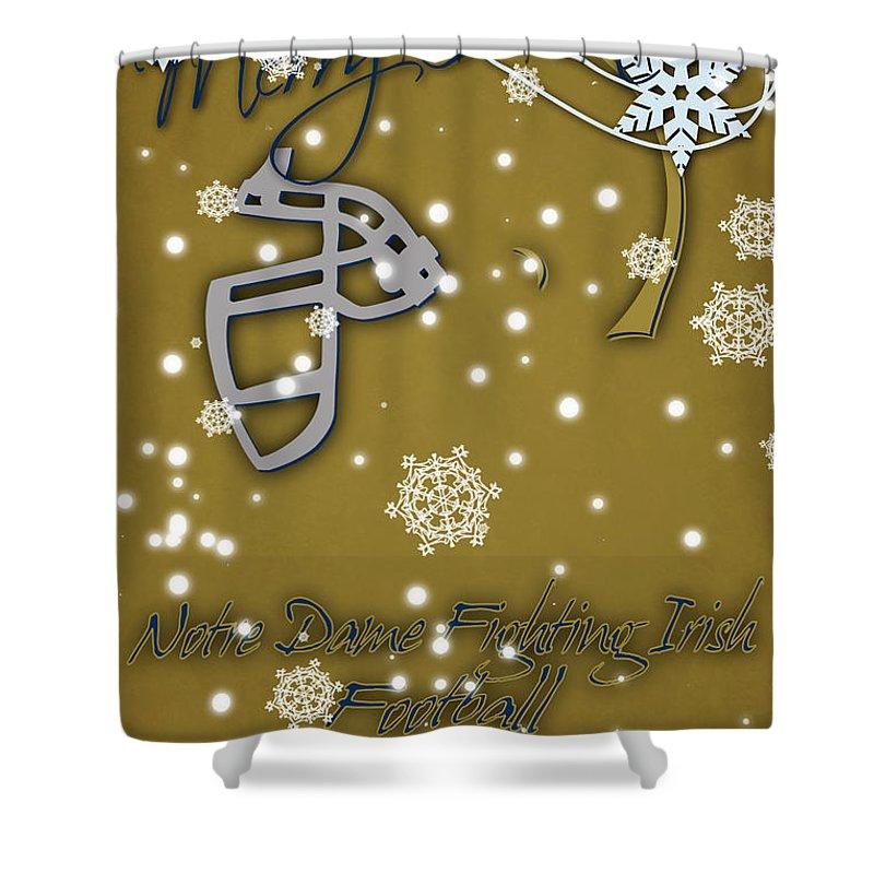 Notre Dame Fighting Irish Christmas Card 2 Shower Curtain For Sale By Joe Hamilton