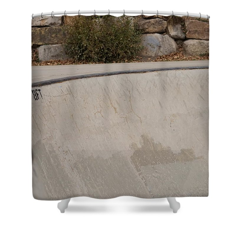 Color Shower Curtain featuring the photograph November Skatescape #3 by Kirk Griffith