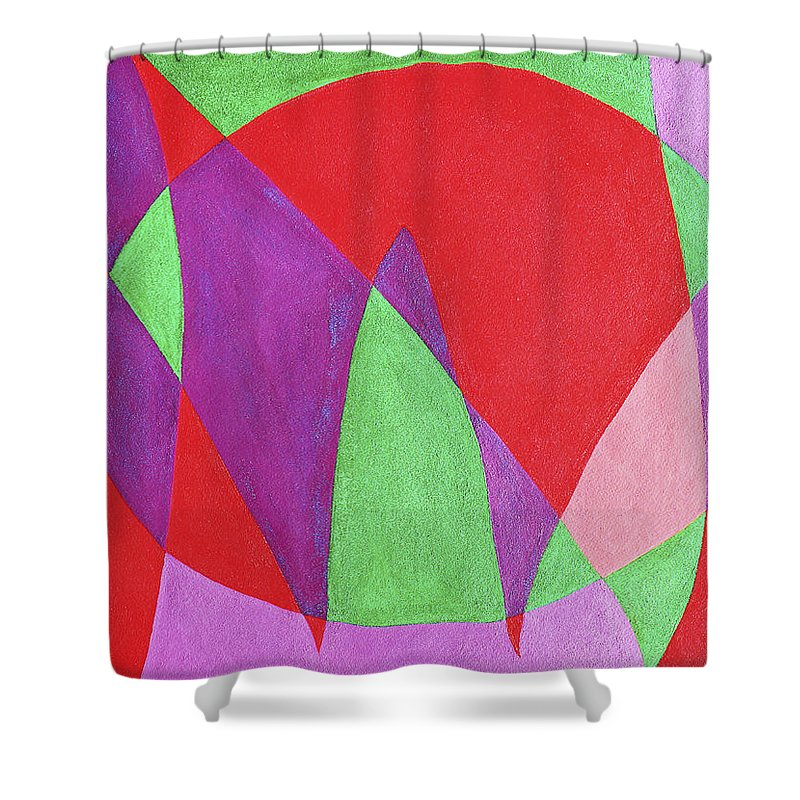 Abstract Shower Curtain featuring the painting Now In Abstract Text Art by Lee Serenethos