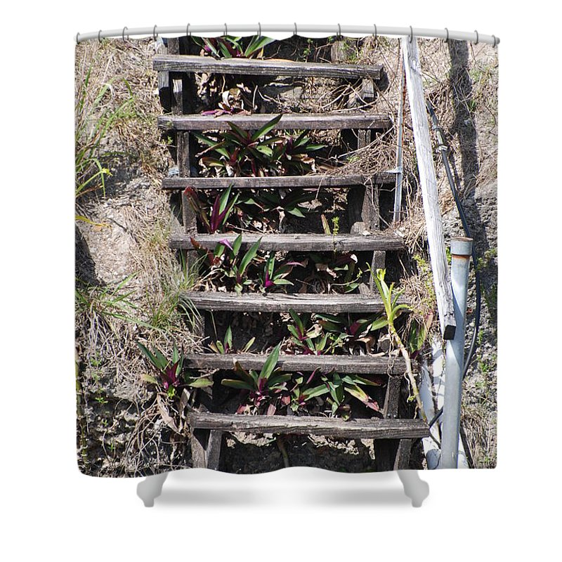 Stairs Shower Curtain featuring the photograph Nowhere Stairs by Rob Hans