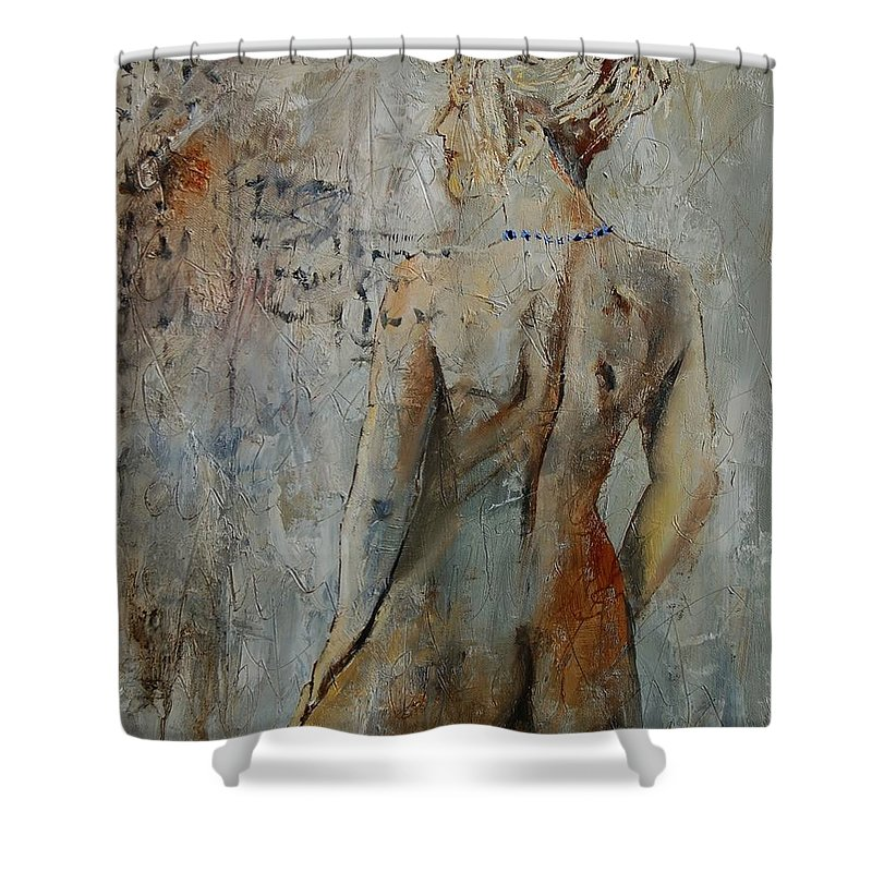 Girl Shower Curtain featuring the painting Nude 459020 by Pol Ledent