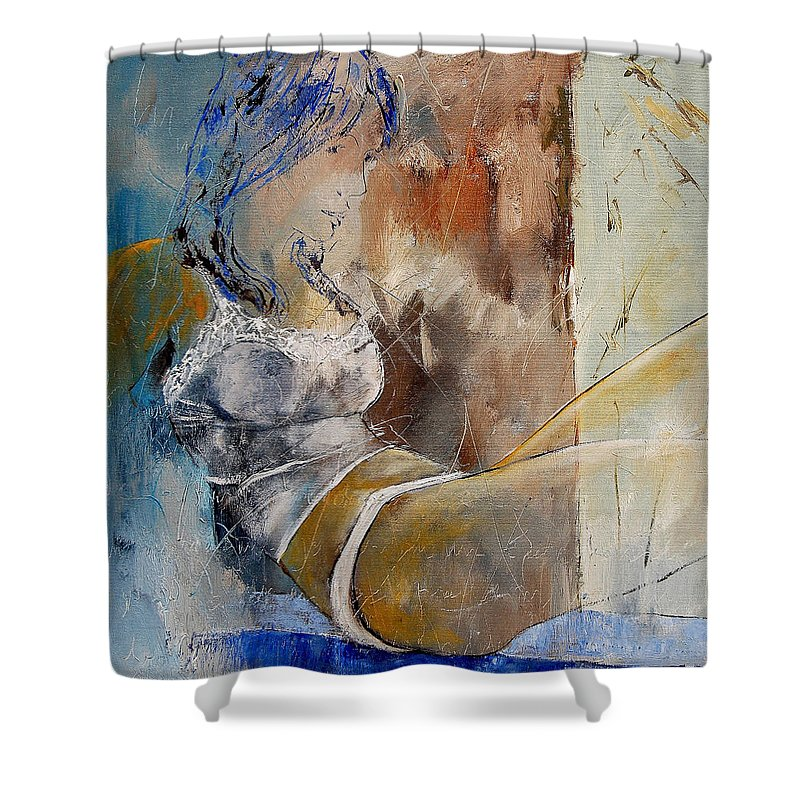 Nude Shower Curtain featuring the painting Nude 67524236 by Pol Ledent