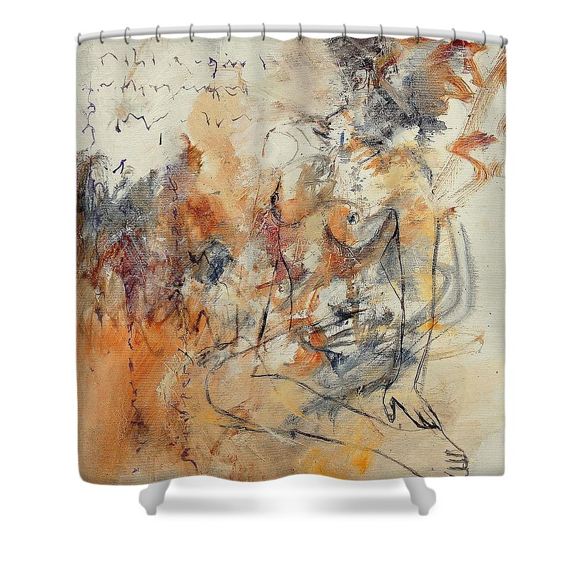 Girl Shower Curtain featuring the painting Nude 679070 by Pol Ledent