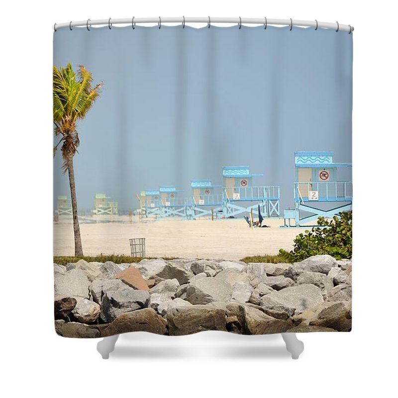 Miami Beach Shower Curtain featuring the photograph Nude Beach by Rene Triay Photography