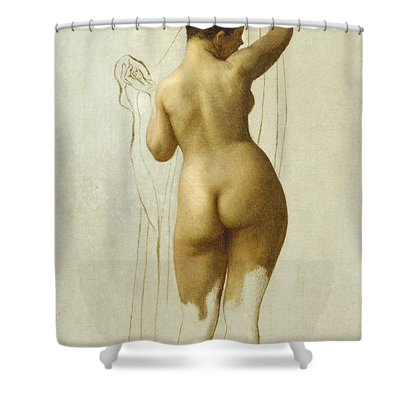 Jean-leon Gerome Shower Curtain featuring the painting Nude. Queen Rodophe by Jean-Leon Gerome