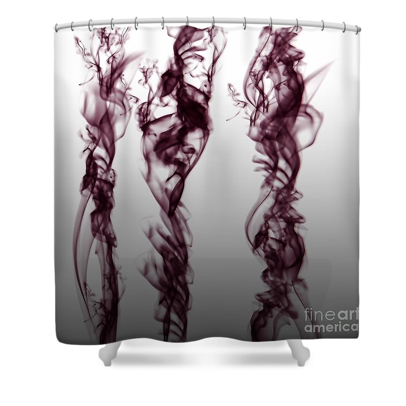 Clay Shower Curtain featuring the digital art Nueroses by Clayton Bruster