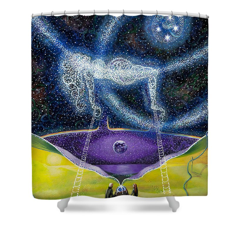 Shelley Irish Shower Curtain Featuring The Painting Nuit And Seven Sisters By
