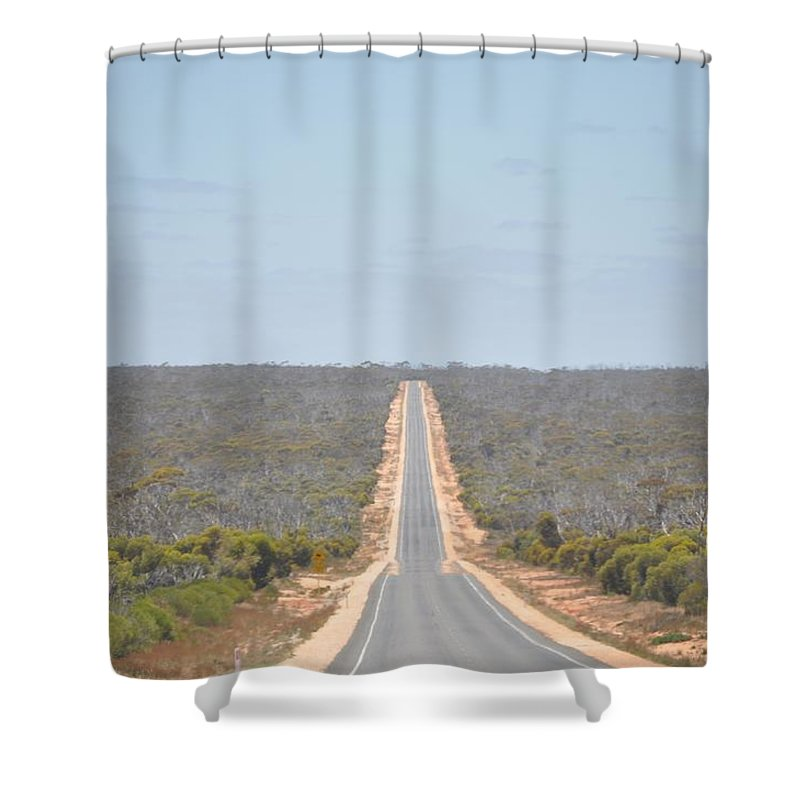 Shower Curtain featuring the painting Nullabour Australia by Richard Benson