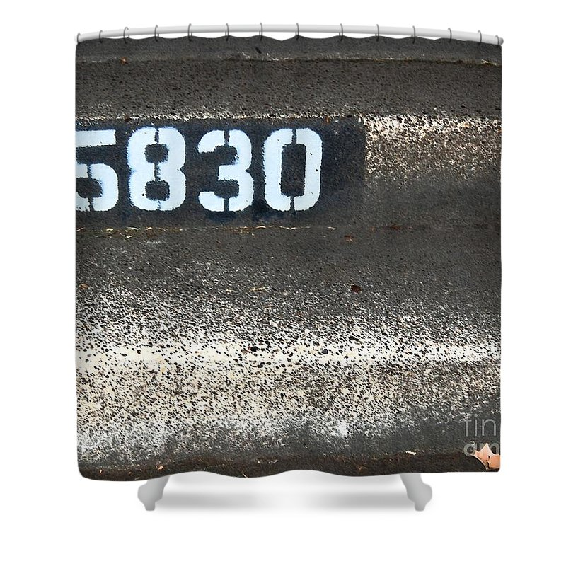 Numbers Shower Curtain featuring the photograph Numbers by Debbi Granruth