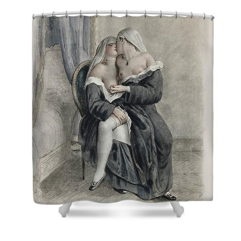 Nuns Making Love Shower Curtain for Sale by Paul Emile Becat
