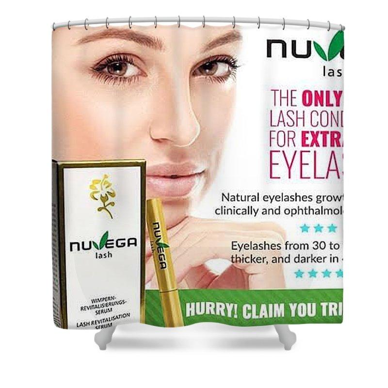 Nuvega Lash Review - Healthy Revitalizing Vegan Eyelash Growth ... Shower Curtain featuring the glass art Nuvega Lash by Nuvega Lash