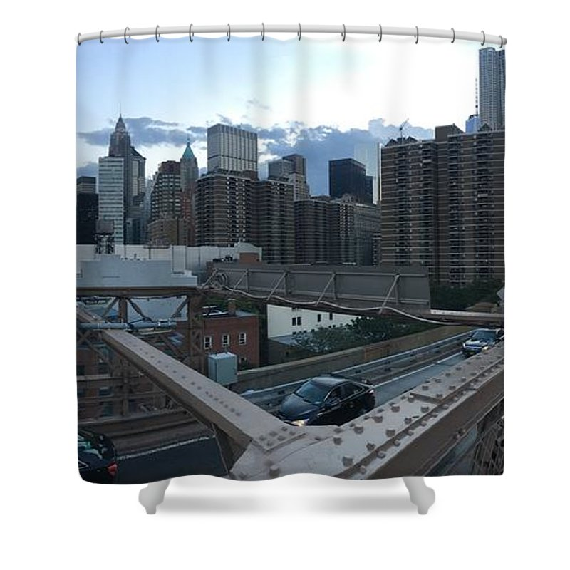 Shower Curtain featuring the photograph NYC by Ashley Torres