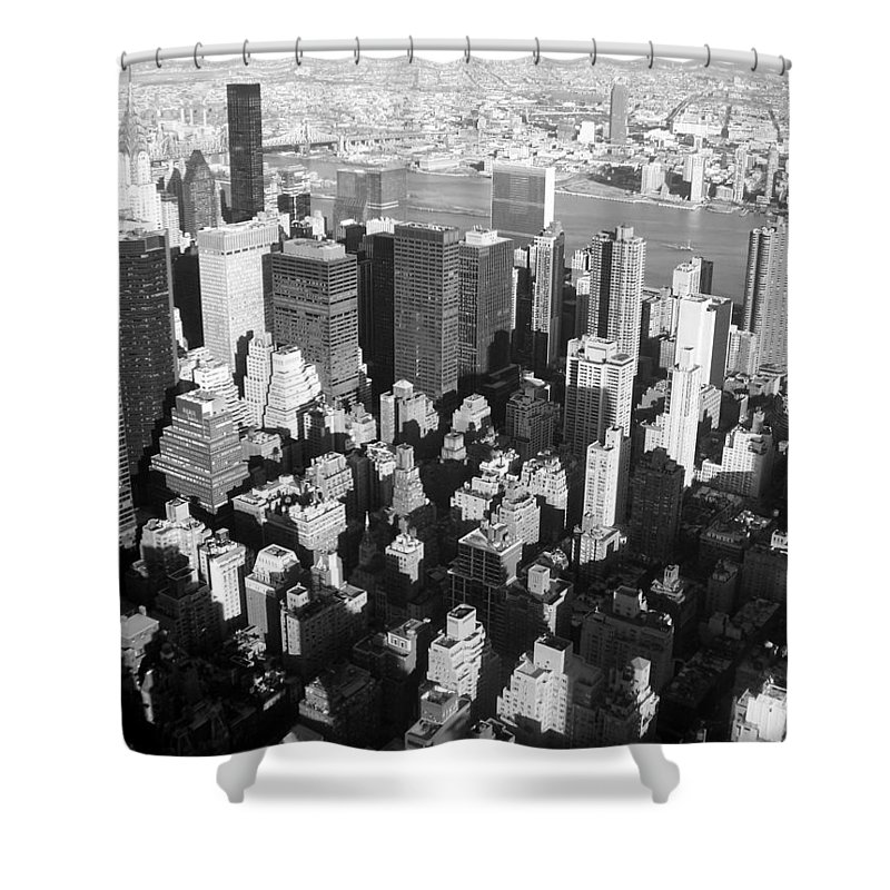 Nyc Shower Curtain featuring the photograph Nyc Bw by Anita Burgermeister