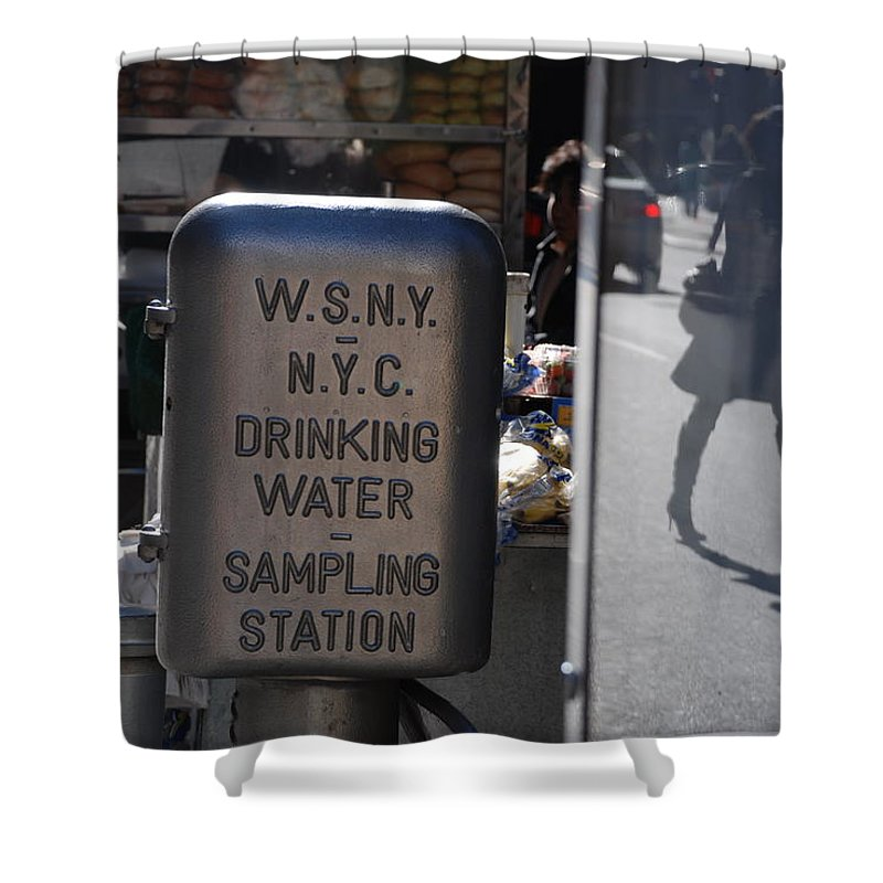 Street Scene Shower Curtain featuring the photograph Nyc Drinking Water by Rob Hans