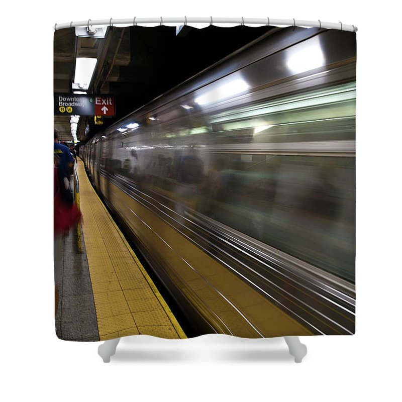 Broadway Shower Curtain featuring the photograph Nyc Subway by Sebastian Musial