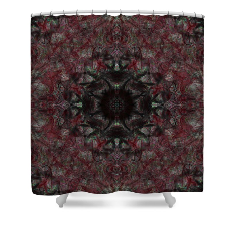 Deep Shower Curtain featuring the digital art Oa-4628 by Standa1one