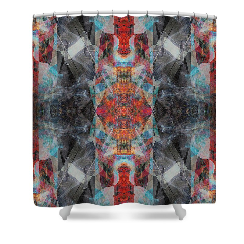Deep Shower Curtain featuring the digital art Oa-4753 by Standa1one
