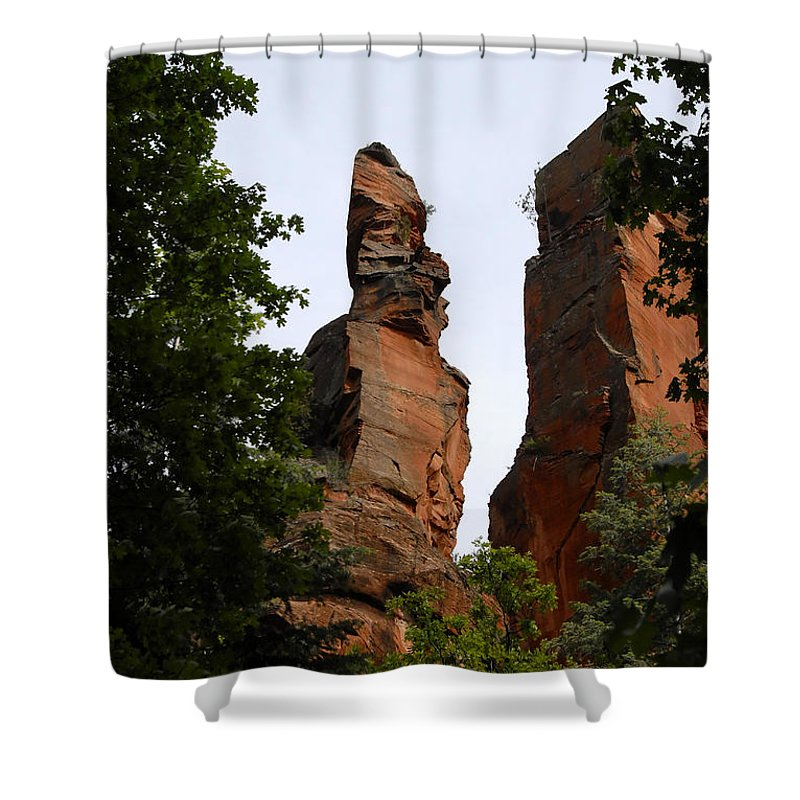Oak Creek Canyon Arizona Shower Curtain featuring the photograph Oak Creek Canyon by David Lee Thompson