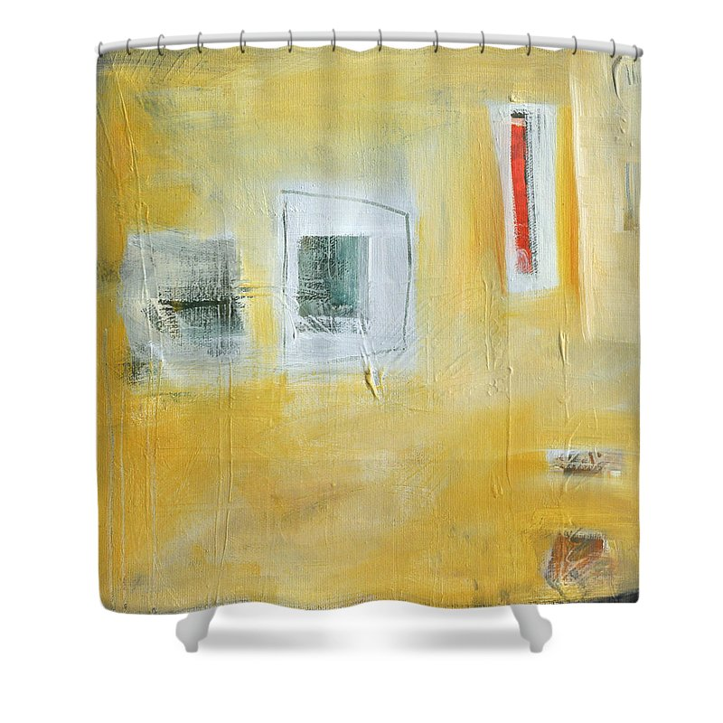 Abstract Shower Curtain featuring the painting Oasis by Tim Nyberg