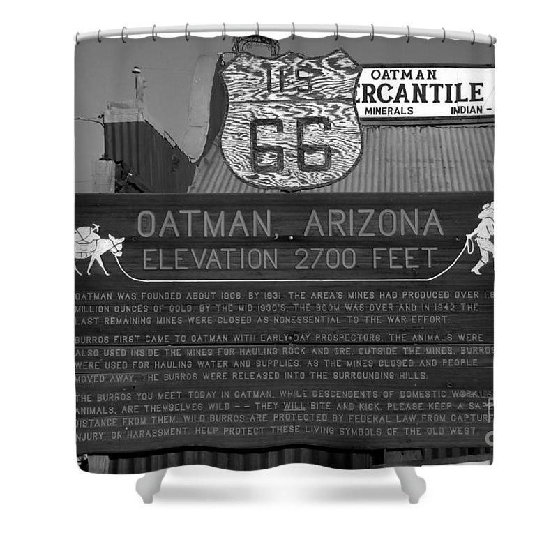 Oatman Arizona Shower Curtain featuring the photograph Oatman Arizona by David Lee Thompson