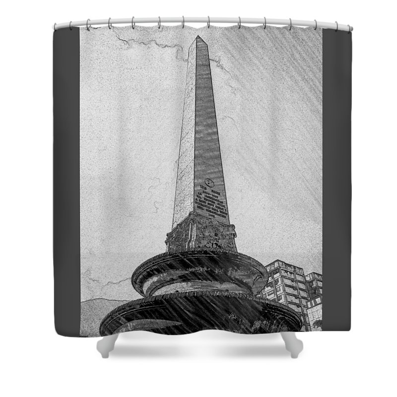Obelisco Shower Curtain featuring the photograph Obelisco by Carlos Cloud