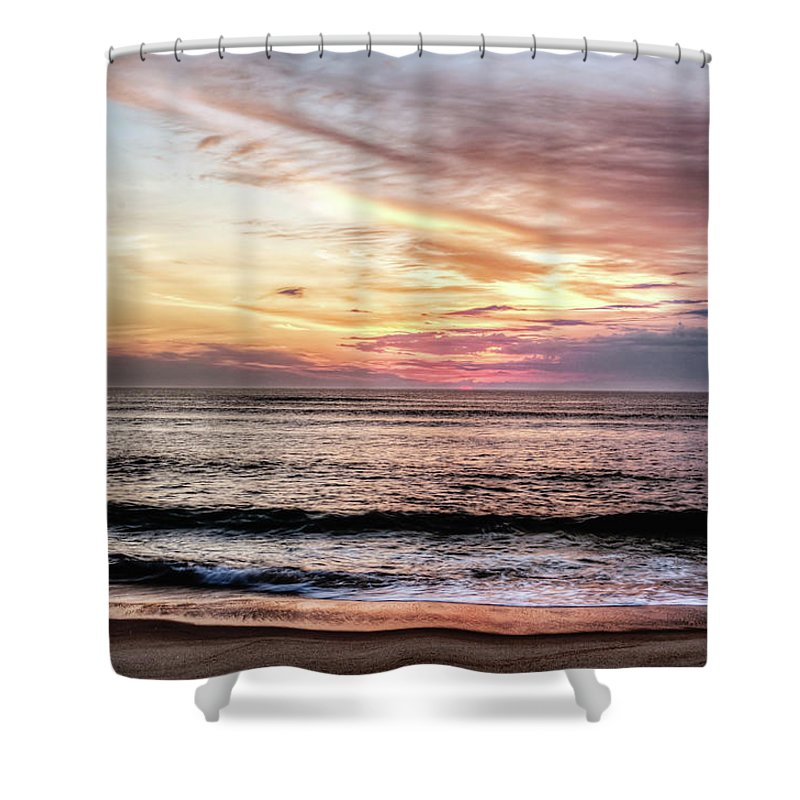 Landscape Shower Curtain featuring the photograph Obx Sunrise by Melissa Kniskern