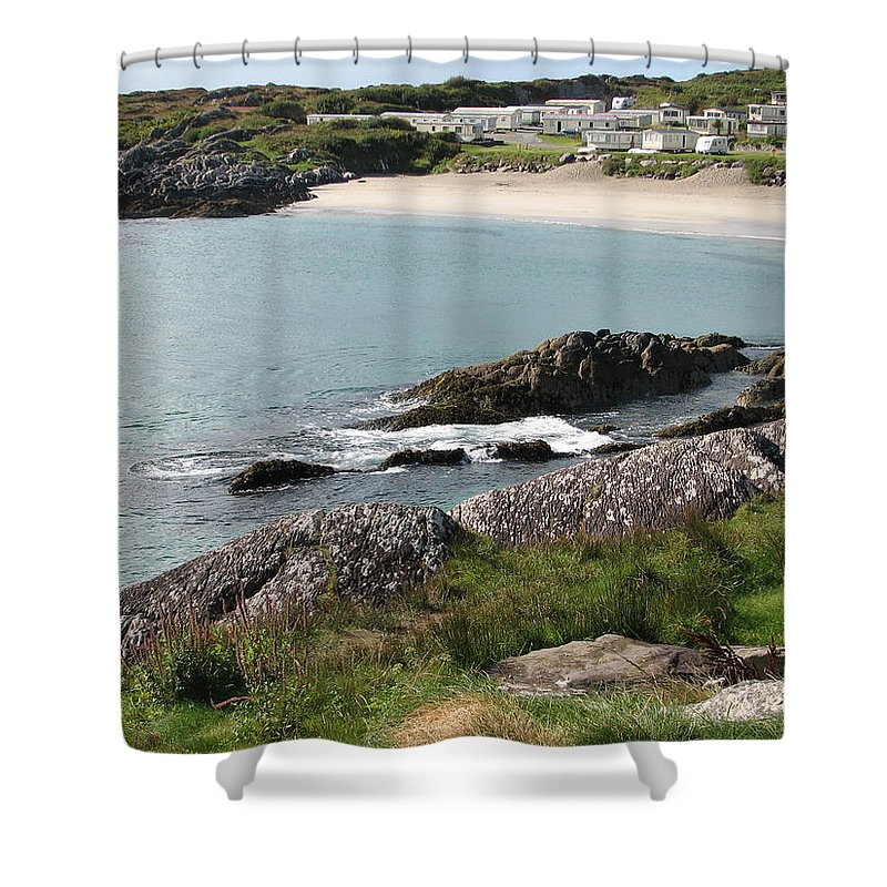Kerry Shower Curtain featuring the photograph O'carrol's Cove by Kelly Mezzapelle