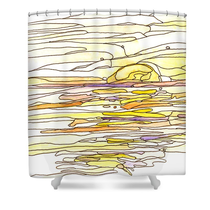 Beauty Shower Curtain featuring the painting Ocean 12 by Katie Ree