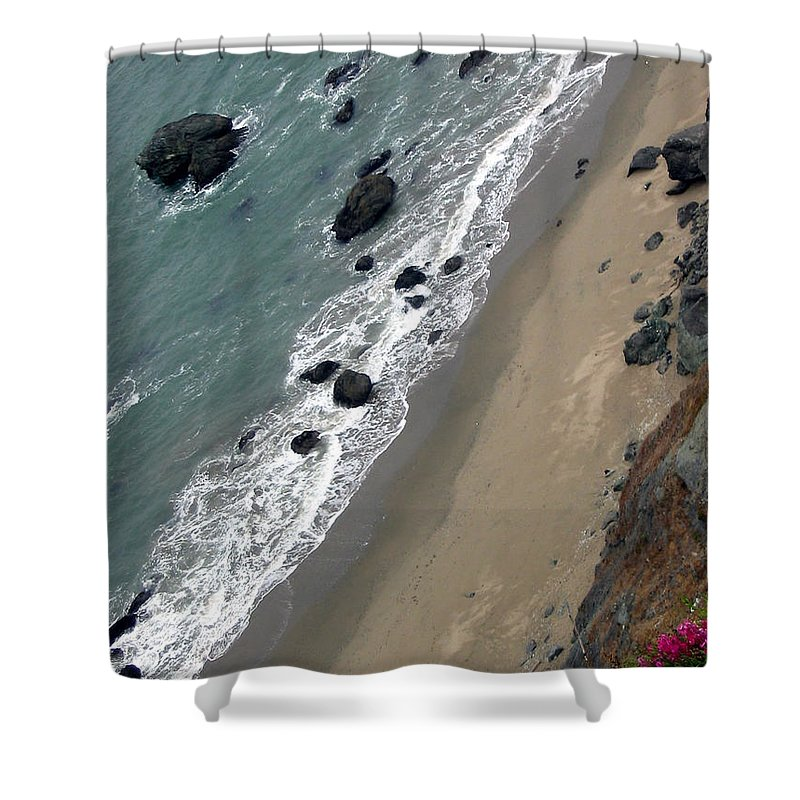 Landscape Shower Curtain featuring the photograph Ocean Breeze by Nina Nabokova